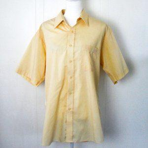 Pierre Cardin Men's Yellow Short Sleeve Shirt